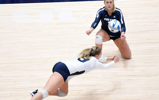 Penn State Women's Volleyball Sweeps Holy Cross