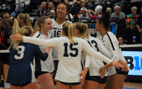 Penn State Women's Volleyball Sweeps Maryland