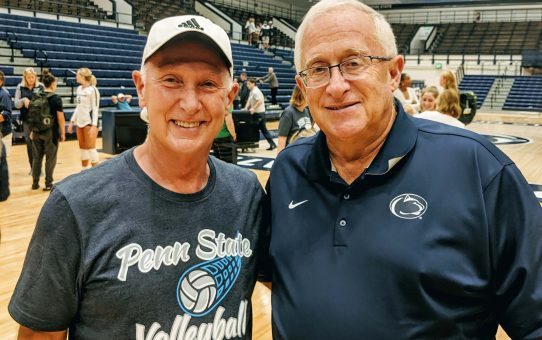 After a Warm Penn State Welcome, Volleyball Fan from Nottingham England is Rooting for the Nittany Lions