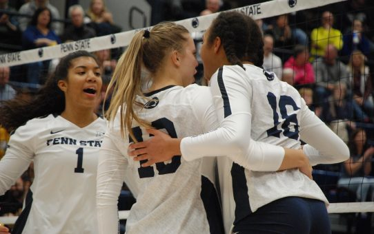 Penn State Women's Volleyball Beats Cincinnati 3-2 To Reach Elite Eight (with Post-Match Quotes)
