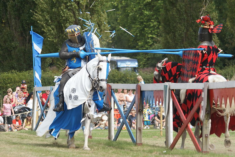 Jousting - Blue and Red Knight
